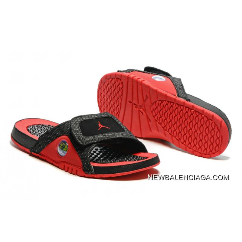 4b8c9f116bb1 Free Shipping Jordan Hydro 13 Slide Sandals Black Red ...