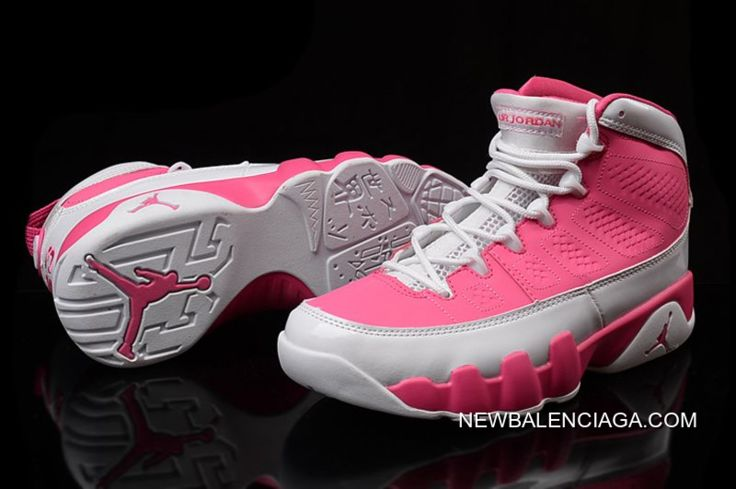 competitive price 29dc2 5a677 Online New Air Jordan 9 GS Pink White Shoes