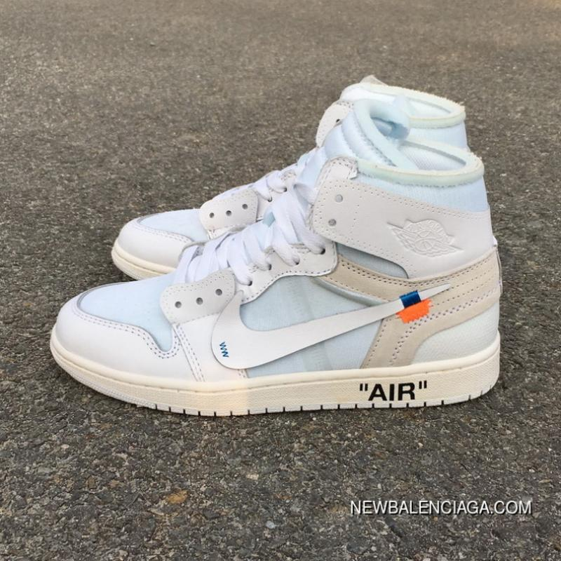 747f68d2a9df OFF-WHITE X Air Jordan 1 OW Collaboration All White AQ0818-100 For Sale ...