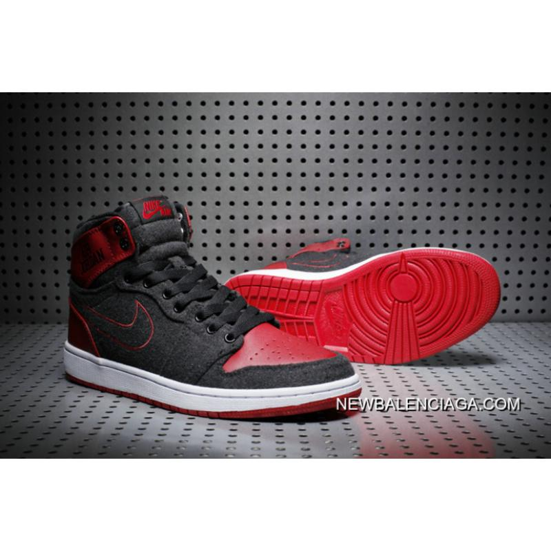 "info for a3153 a614b Air Jordan 1 High ""Wool"" Black Red Latest ..."