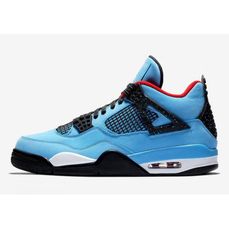 "huge discount 3285d 81a8b Discount ""Oilers"" Travis Scott X Air Jordan 4 Retro University Blue Varsity  Red ..."