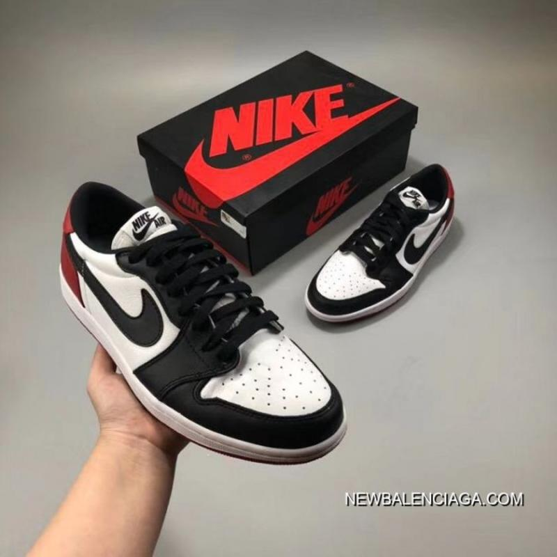 new style fc646 3e49d Men Air Jordan 1 Retro Low OG Black Toe Latest ...