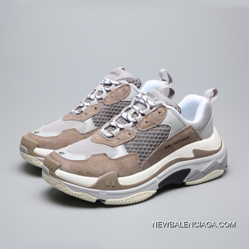 balenciaga triple s womens brown