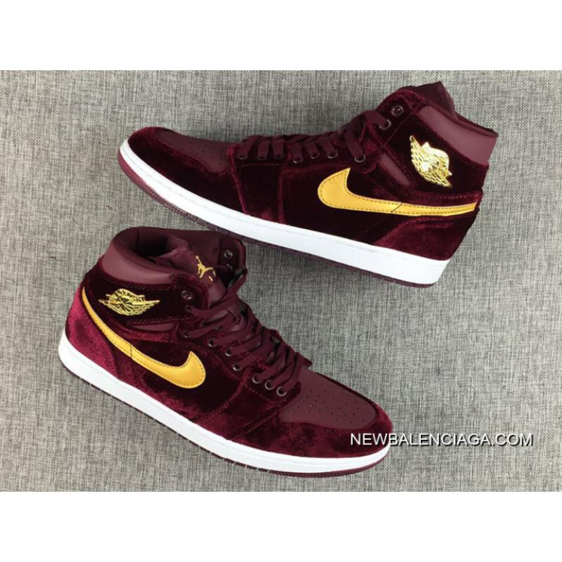 "d43f6092568 Air Jordan 1 High Velvet ""Night Maroon"" For Sale, Price: $89.34 ..."