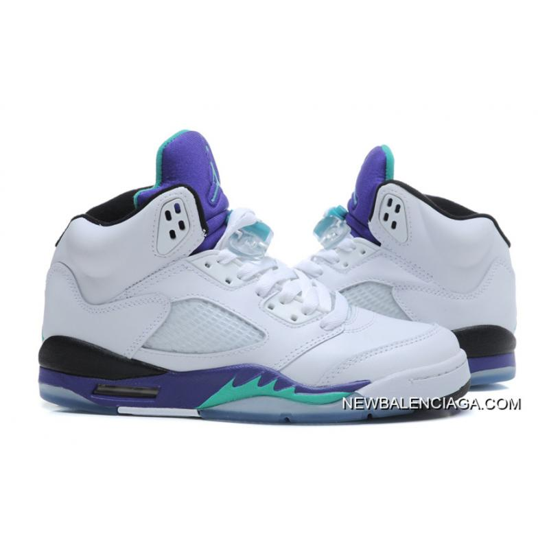9cd616c4233b ... New Air Jordan 5 Retro White New Emerald-Grape-Ice Blue Outlet ...