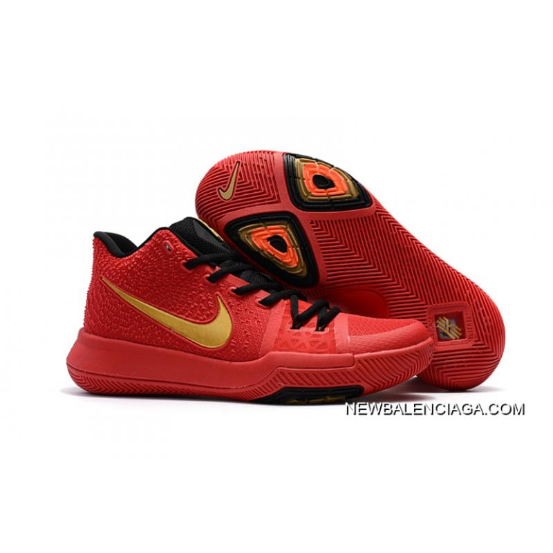 e125bbc88316 Girls Nike Kyrie 3 Red Black Gold Outlet ...