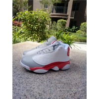 a2cac3350804f Authentic Air Jordan 13 Kids Shoes White Grey Red