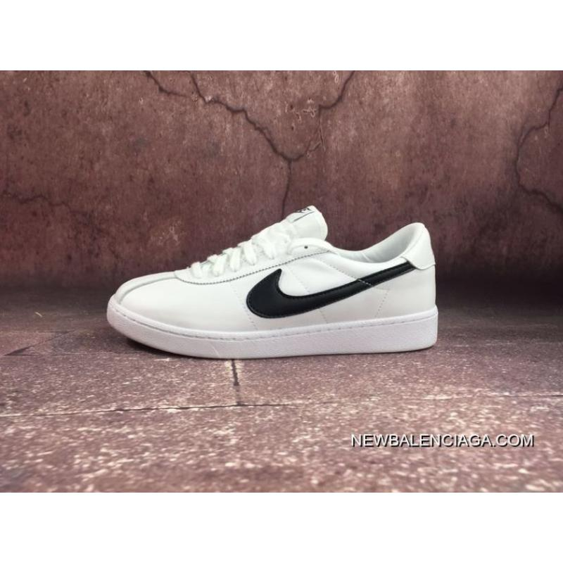 b7a3e280f880 Women Men NIKE BRUIN LEATHER Back To Future White Black Sneakers 842956-101  Outlet ...
