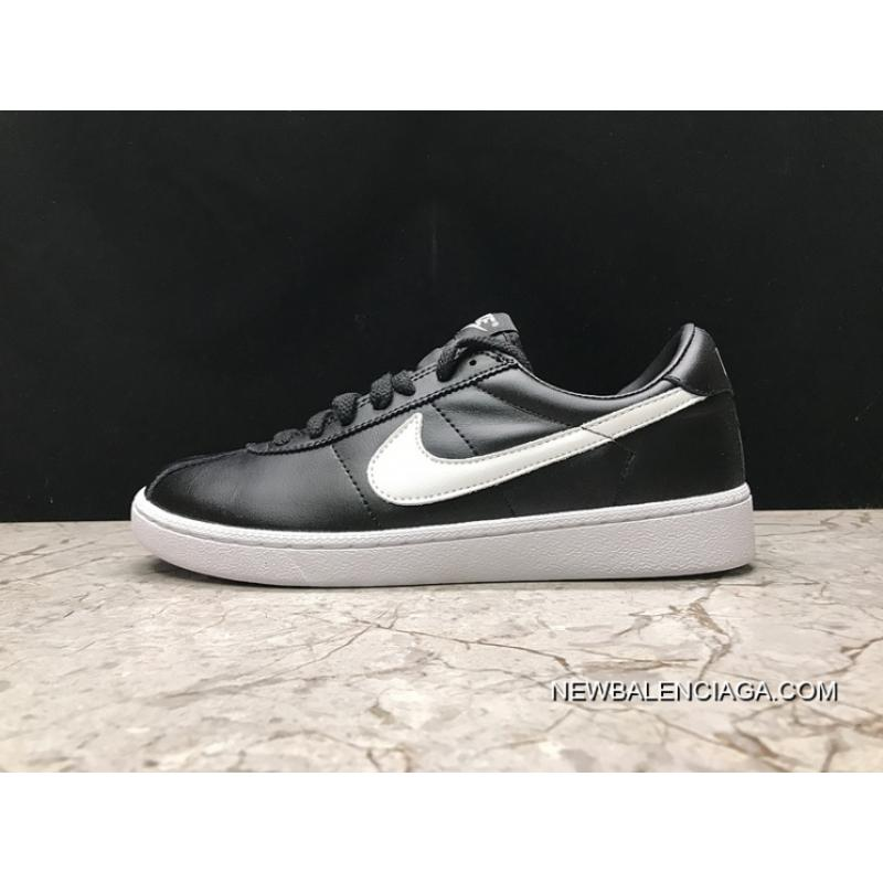 9e2fe5260db9 Top Deals NIKE BRUIN LEATHER Back To Future Black White Sneakers 842956-001  36- ...