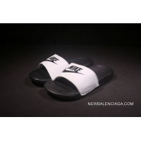 a228c562737 2018 Nike From Laser Marking Authentic Slides TAB Benassi Slides TAB Swoosh  Shoes White Surface Authentic