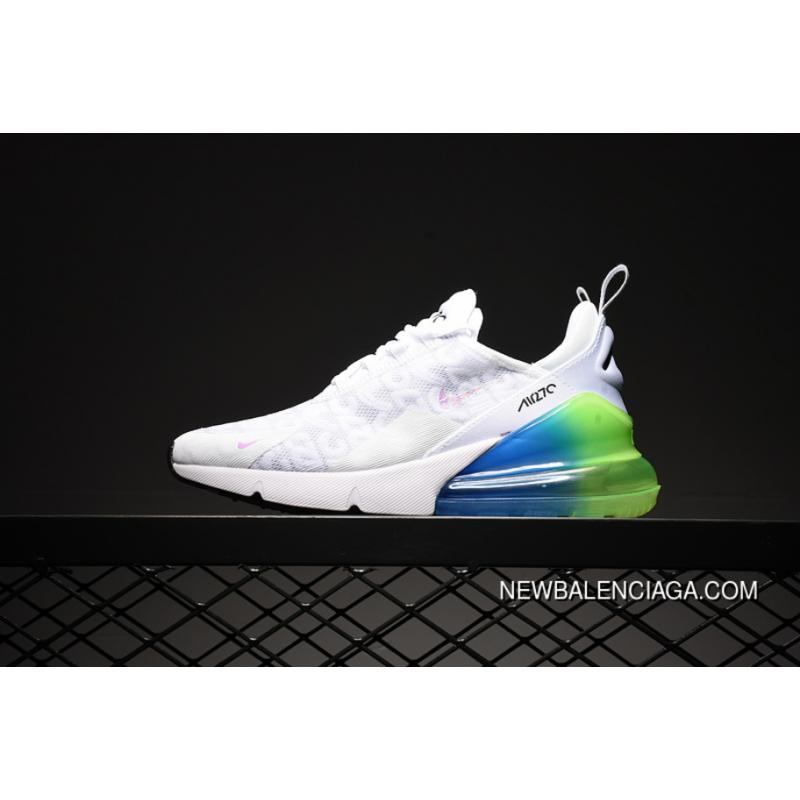 NIKE AIR MAX 270 ID Customized Mesh Half-palm Cushion Running Shoes Women  Shoes And ... 5b9bcdc4b20c