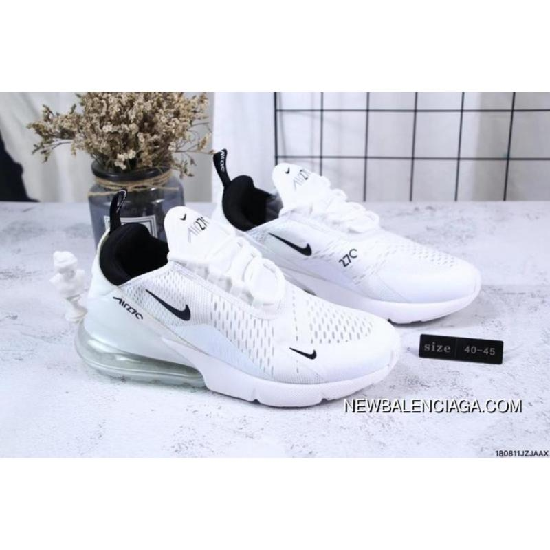 best loved 27dea e1543 Nike Jacquard Air Max 270 Flyknit Half-palm Cushion White New Release ...