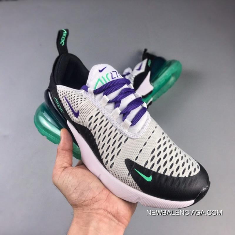 9f83fd5d7993 The NIKE Air Max 270 Series Heel Half-palm As Jogging Shoes White Black  Purple ...