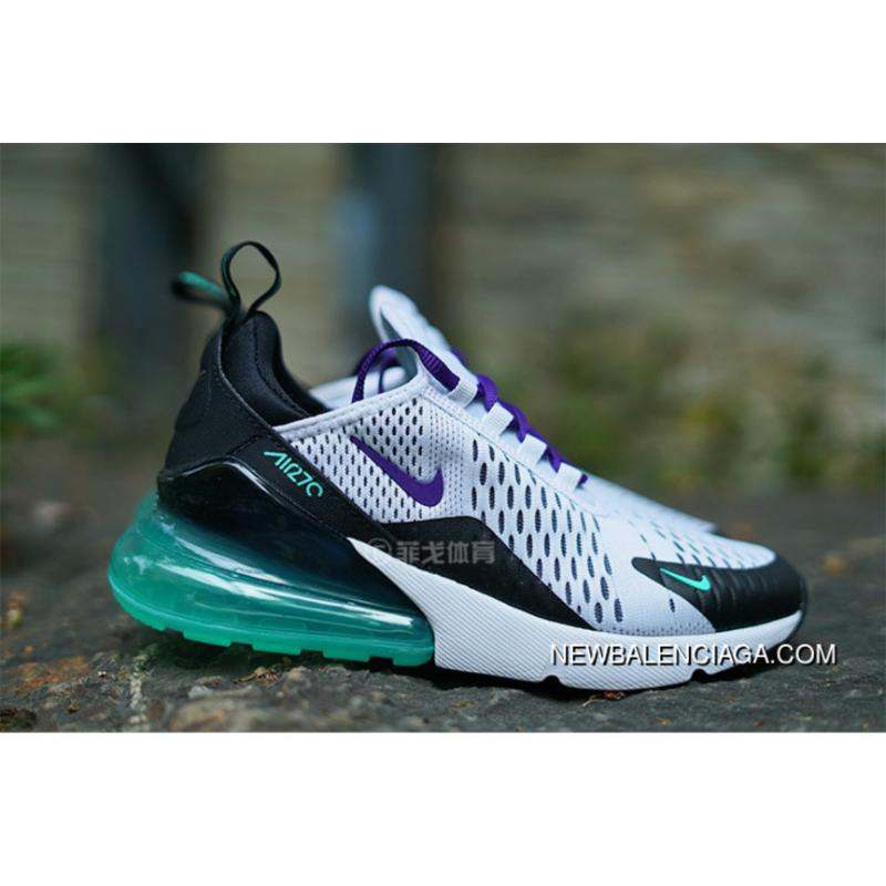 best deals on b0283 0c8aa Nike Air Max 270 Series Heel Half-palm As Jogging Shoes White Black Purple  Grapes ...