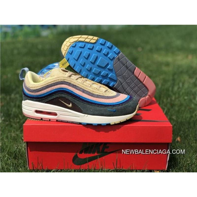 4a8442fa79 Men Sean Wotherspoon Nike Air Max 97 Hybrid SKU:104720-288 For Sale ...