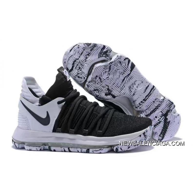 purchase cheap 49be4 4b531 Nike KD 10 Black And White New Style ...