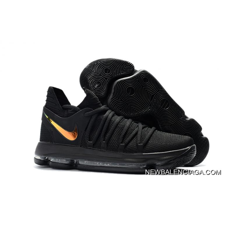 "f200c29480b0 Best Nike KD 10 ""PK80″ Black Metallic Gold ..."