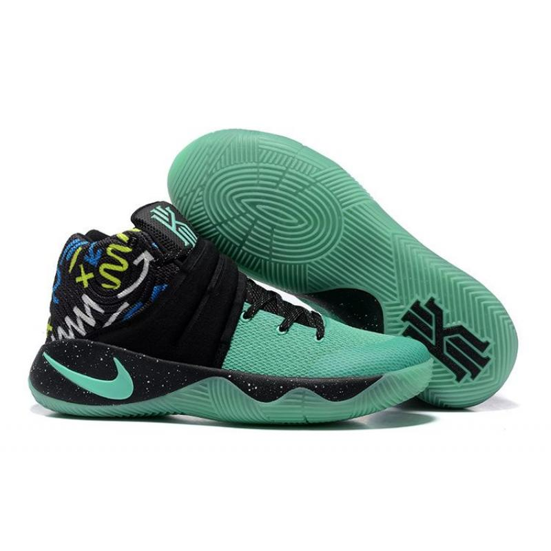 new styles b06a2 05b12 Nike Kyrie 2 Mint Green Black Glow In The Dark Sole Outlet ...