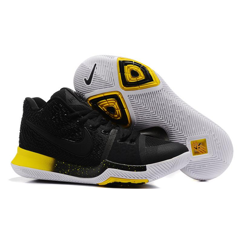 "sports shoes f0308 2f68a New Year Deals Nike Kyrie 3 ""Black Yellow"" Black Black-Varsity ..."