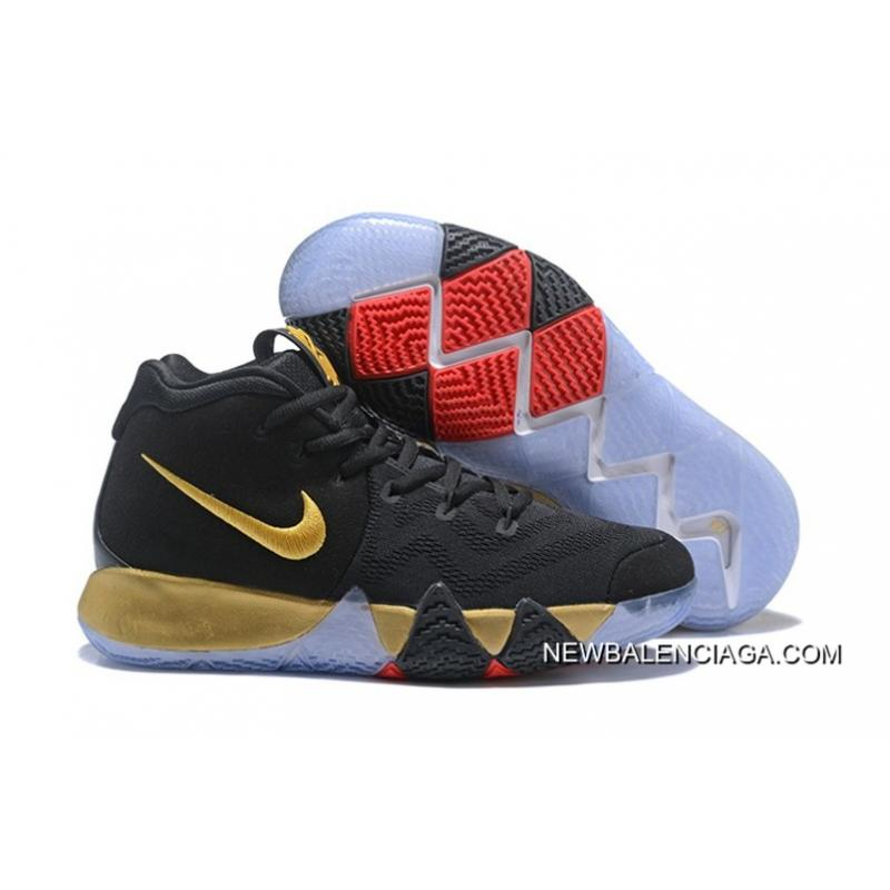newest 1a374 2b302 Discount Nike Kyrie 4 Black Gold Red ...