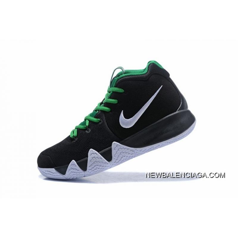 ... New Release Nike Kyrie 4 Black White Green ...