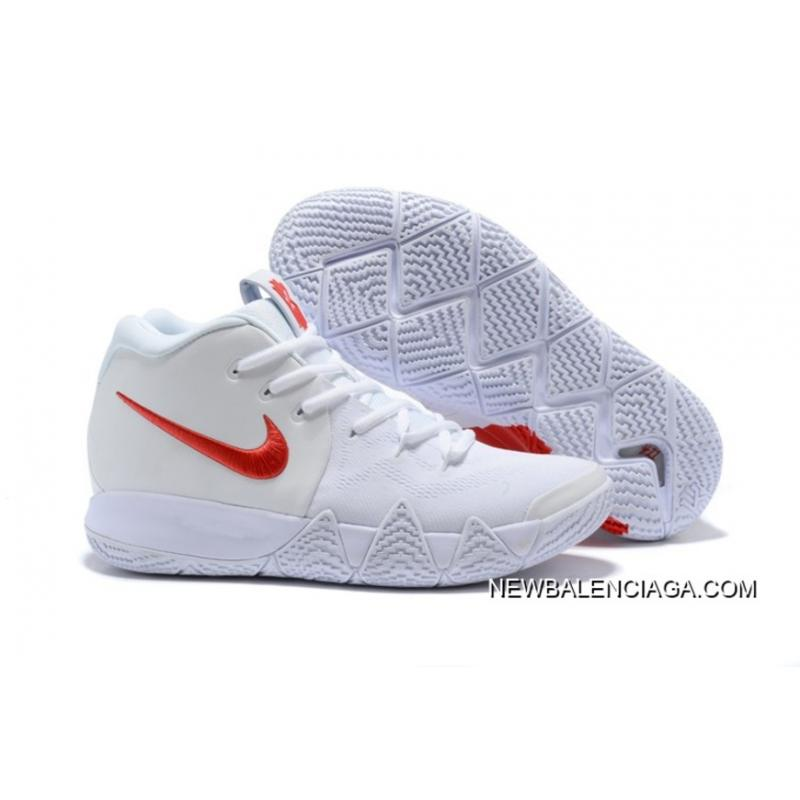 """0726c34af1eb Top Deals Nike Kyrie 4 """"Half Heart"""" White Red ..."""