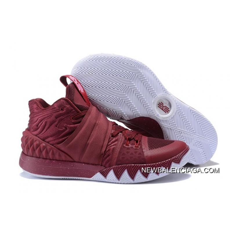 on sale efe12 df2bc Nike Kyrie S1Hybrid Wine Red White New Year Deals ...