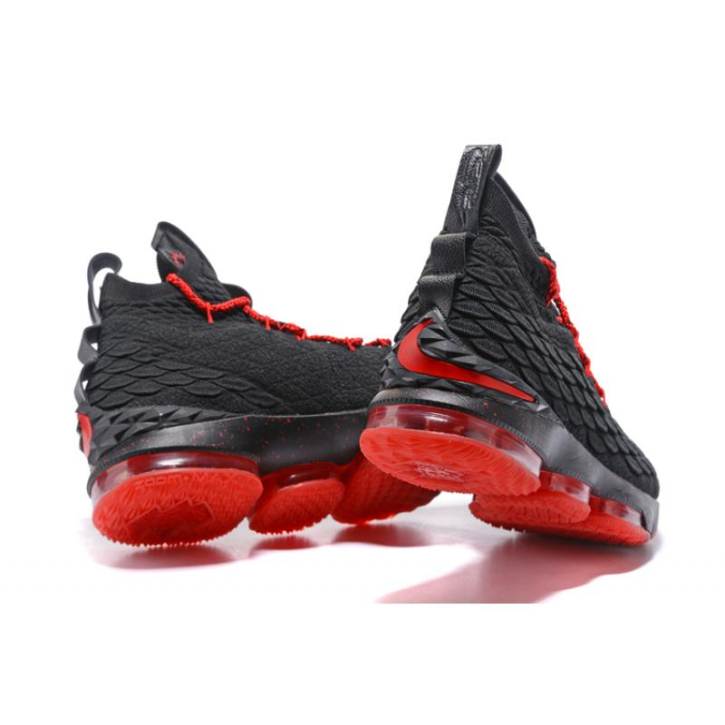 041813017f1c ... Nike LeBron 15 Black University Red Basketball Sneakers New Release ...
