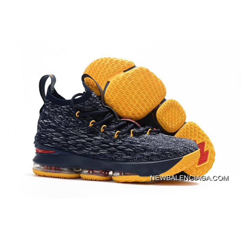 Nike Lebron 15 Outlet Navy Grey Yellow