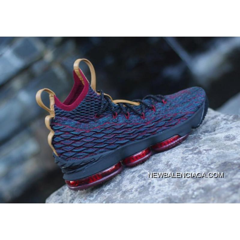 c8378f4b9c89fa Nike LeBron 15  New Heights  Navy Blue And Wine Red New Style ...