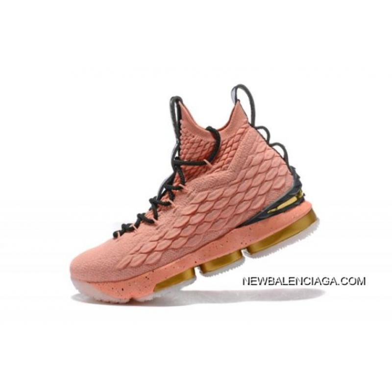 "half off 2a8c9 cf92f Men's Nike LeBron 15 Hollywood ""All-Star"" Rust Pink/Metallic Gold-Black  897650-600 New Release"