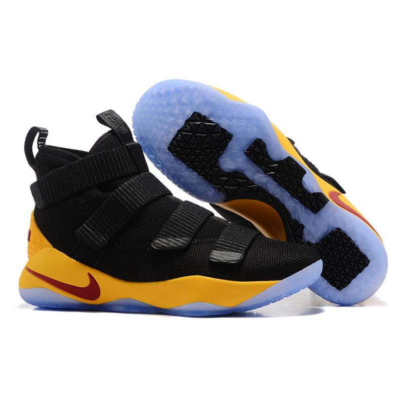 brand new 19043 1f8a6 Nike LeBron Soldier 11 Black/Yellow-Team Red Outlet