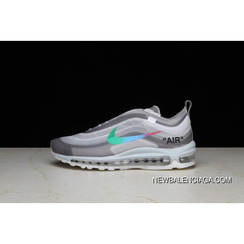 purchase cheap d74e3 68397 P26 OFF-WHITE X Nike Air Max 97 Bullet Running Shoes Collaboration  Publishing Women Shoes ...