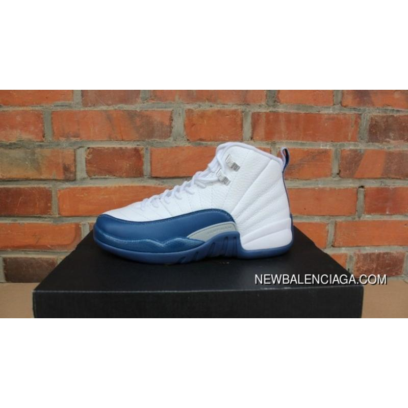 b8e42a161ee AJ12 French Blue Label Women Shoes Picking Jordan 12 French Blue 153265-113  New Release ...