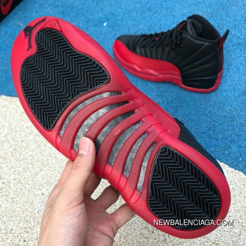 e2dd005098afb9 Aj12 Black Red Size Air Jordan 12 On Flu Game Aj12 Black And Red Collapsed  In