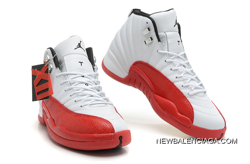 c5c22f4b4b6a0d Best New Air Jordan 12 Retro White Varsity Red-Black