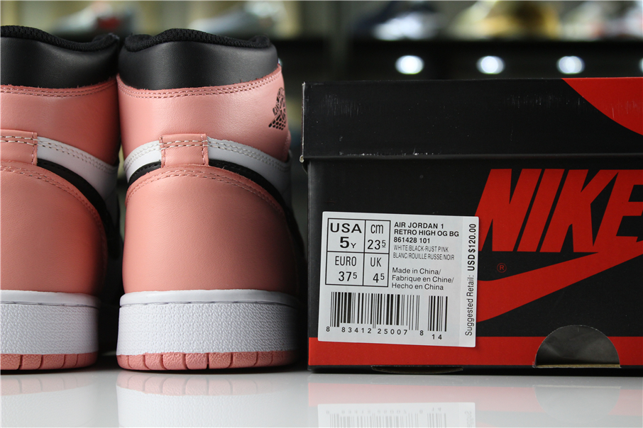 """sneakers for cheap 16a0a 8c5b0 Air Jordan 1 High """"Rust Pink"""" For Sale"""