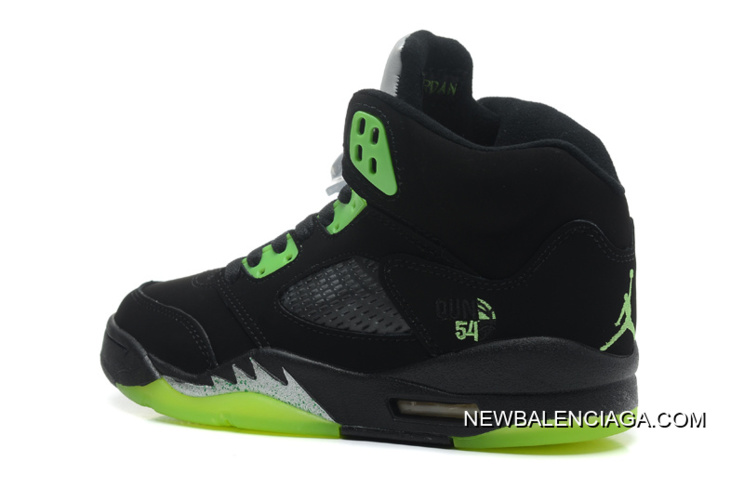 "940bd6ffccf0 Free Shipping New Air Jordan 5 Retro ""Quai 54″ Black Radiant Green ..."