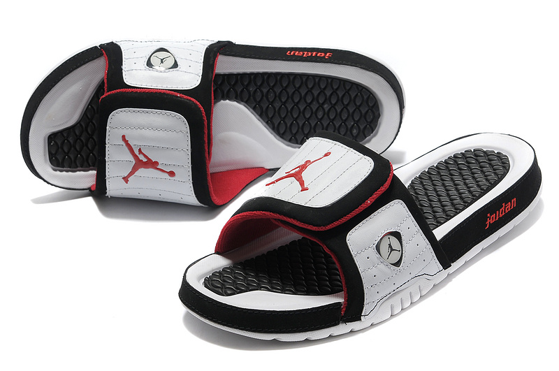 78778d94df456f Air Jordan Hydro 14 White Black Red Slide Slippers For Sale