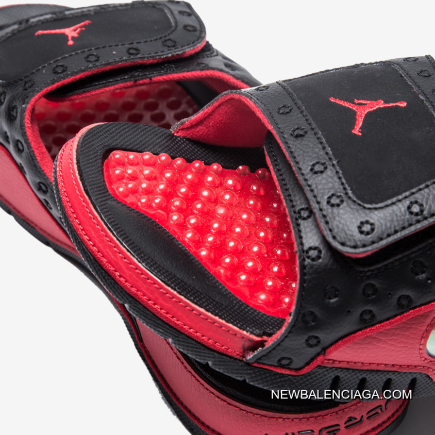 new product c1091 820ab Best Air Jordan Hydro 13 Black Gym Red Sandals
