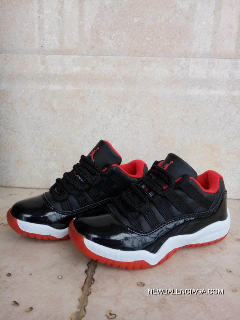 "sports shoes 9f027 d3d3a Kids Air Jordan 11 Low ""Bred"" Where To Buy"