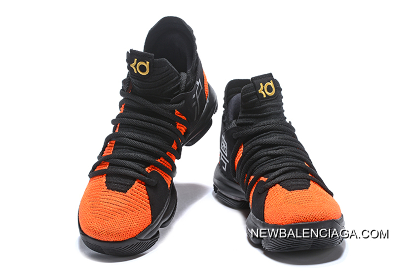 "513a0eb87902 Nike KD 10 ""China Exclusive"" Black Orange Gold Best"