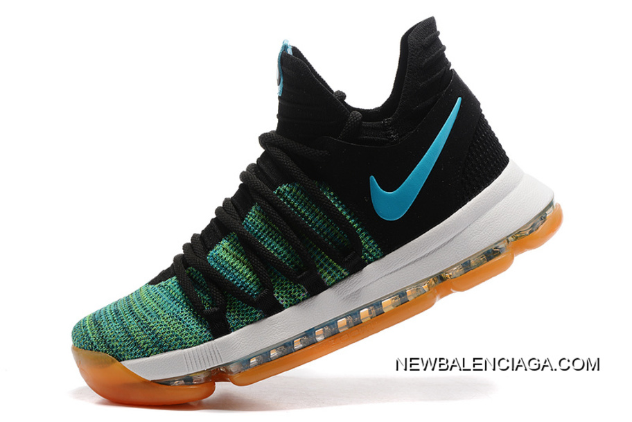 """low priced bde7e 5e6db Nike KD 10 """"Birds Of Paradise"""" Black Clear Jade New Style"""