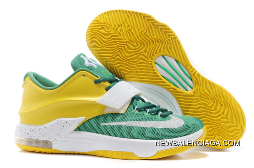 "b6d722fe5f54 For Sale Nike Kevin Durant KD 7 VII ""Draft Day"" Apple Green Yellow ..."
