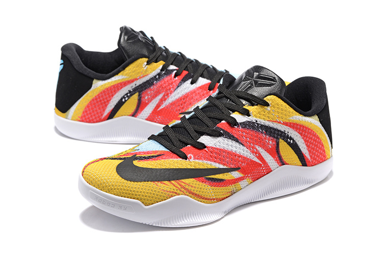 "super popular e9add 4f0e8 New Style Nike Kobe 11 Elite Low ""Sun WuKong"" Mens Basketball Shoes"