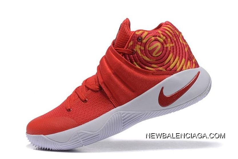 brand new 79d8d 24068 Nike Kyrie 2 Red White Basketball Shoes Copuon