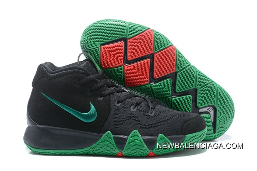 super popular 60f3a 0d79a Nike Kyrie 4 Black Green Red New Release