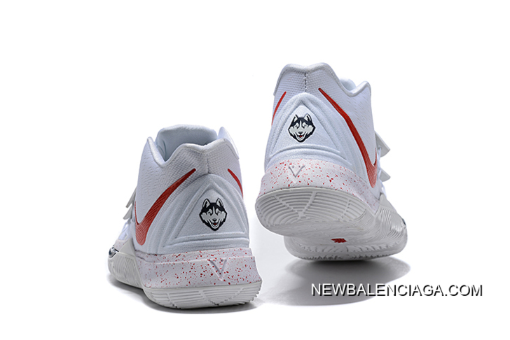 50d96ae30d340f For Sale Nike Kyrie 5 Uconn PE White Red