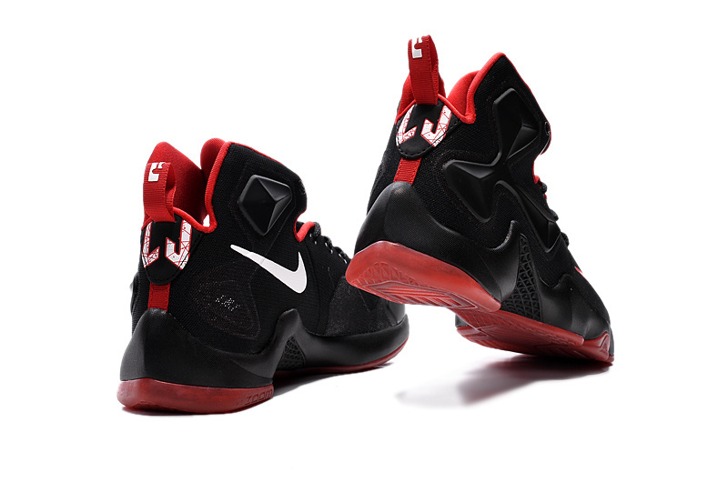 cheaper 12f46 7fa0c Latest Nike Lebron 13 Black Red Men Basketball Shoes