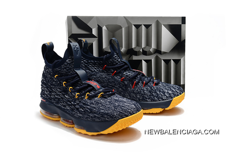 5f4ec233b111 Nike LeBron 15 Navy Blue Yellow-Red Outlet